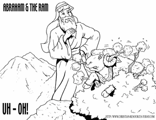 bible coloring pages abraham bible story pages printable sheets