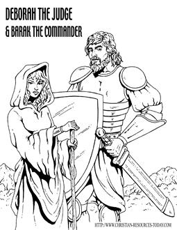 bible coloring pages about deborah - photo#6