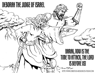 deborah judges bible coloring pages | For Coloring Pages Deborah Judges 4 Coloring Pages