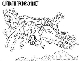 Chariot of Fire Coloring Page http://www.christian-resources-today.com/free-bible-coloring-pages.html