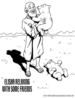 Elisha the Prophet Coloring Pages http://www.printablecolouringpages.co.uk/?s=prophet+elisha