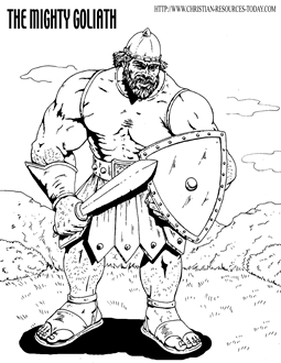 david and goliath coloring pages - free bible coloring pages bible story pages printable