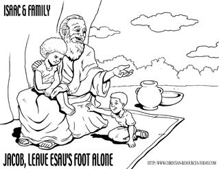 Jacob And Esau Printable Coloring Pages