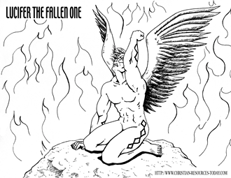 bible coloring pages lucifer - photo#1