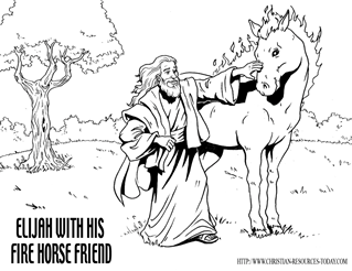 elijah and the fire contest bible coloring pages - Elijah Bible Story Coloring Pages